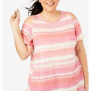 WOMAN WITHIN Cold shoulder blouse